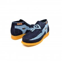 British Collection Palace-L.Blue/Navy Suede/Suede Slip-on