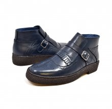 British Collection-Playboy Manhattan Navy Leather Wingtips