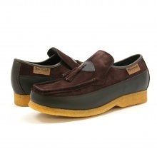 British Collection King Old School Slip-Brown Lthr Suede Shoes